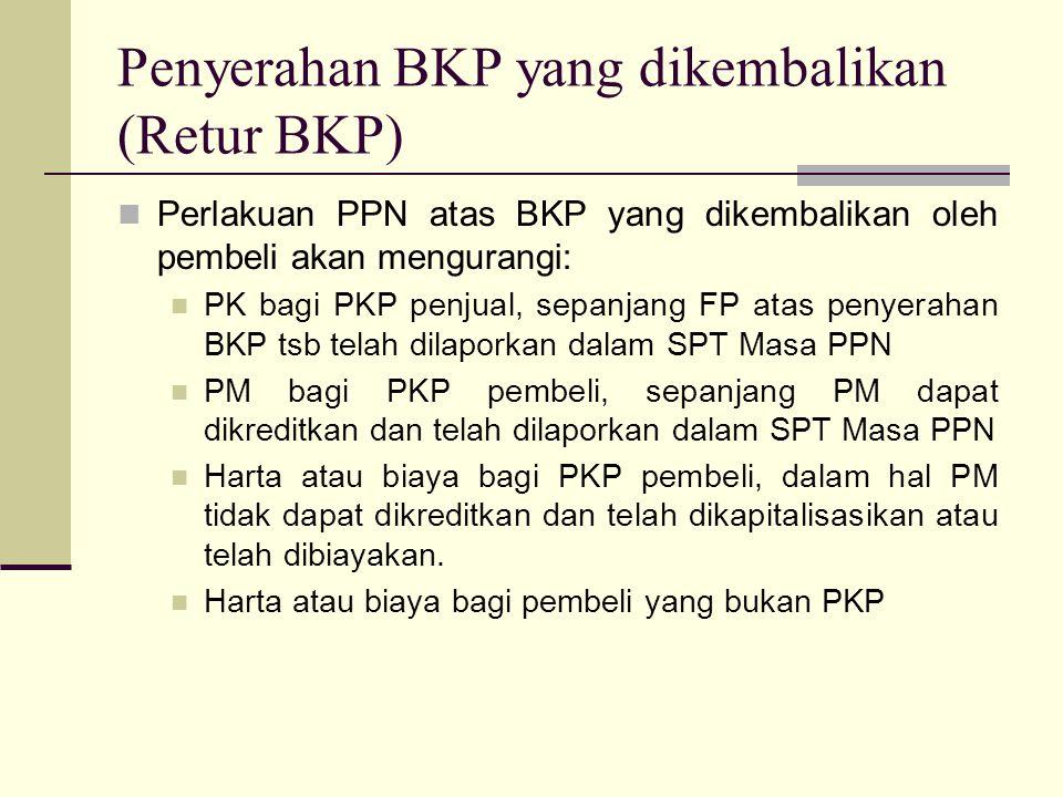 Penyerahan BKP yang dikembalikan (Retur BKP)