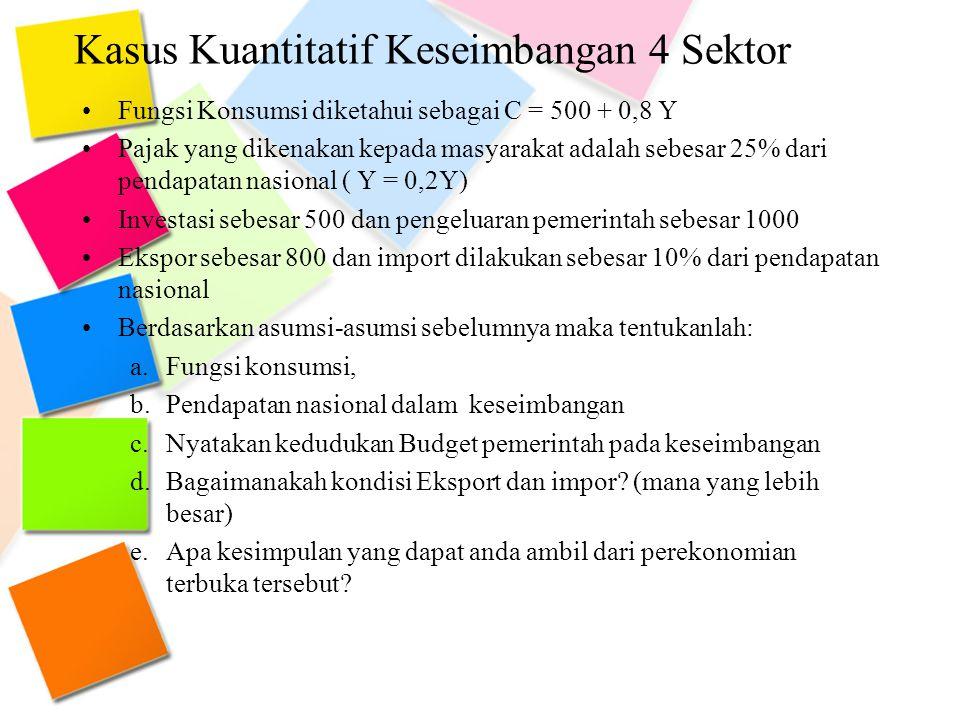 Kasus Kuantitatif Keseimbangan 4 Sektor