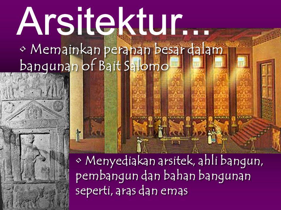 Memainkan peranan besar dalam bangunan of Bait Salomo