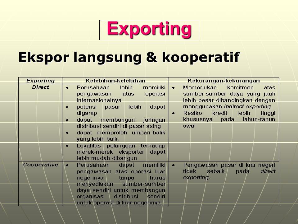 Exporting Ekspor langsung & kooperatif