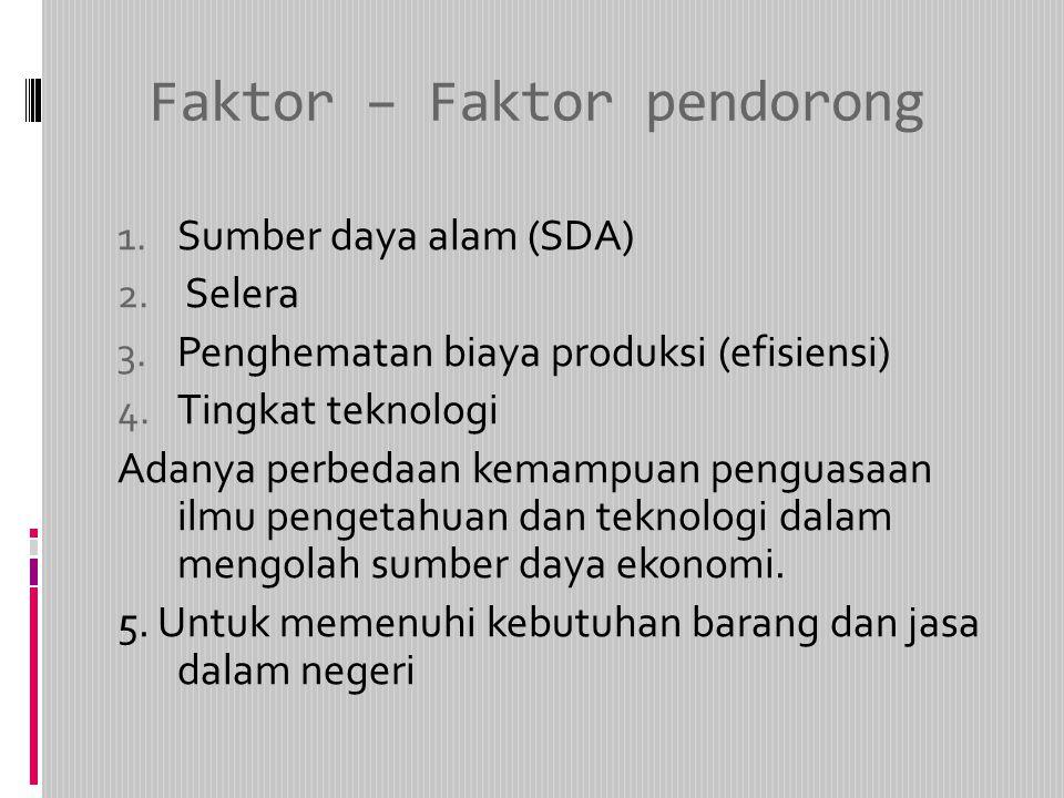Faktor – Faktor pendorong