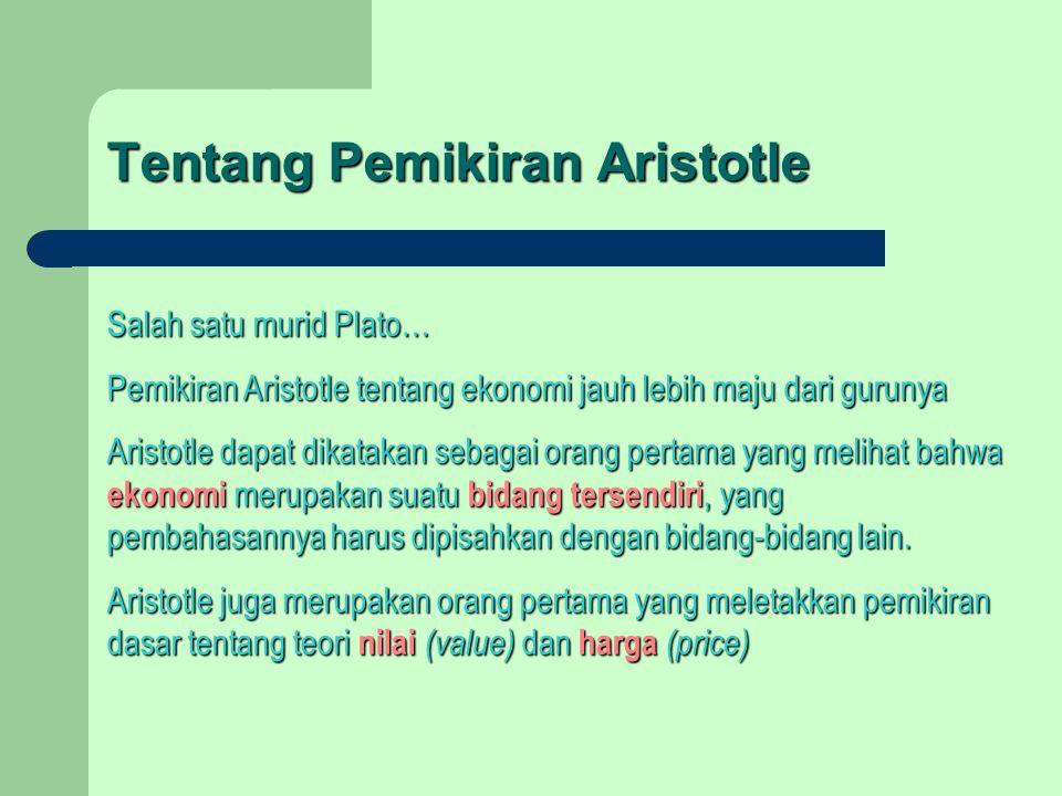 Tentang Pemikiran Aristotle