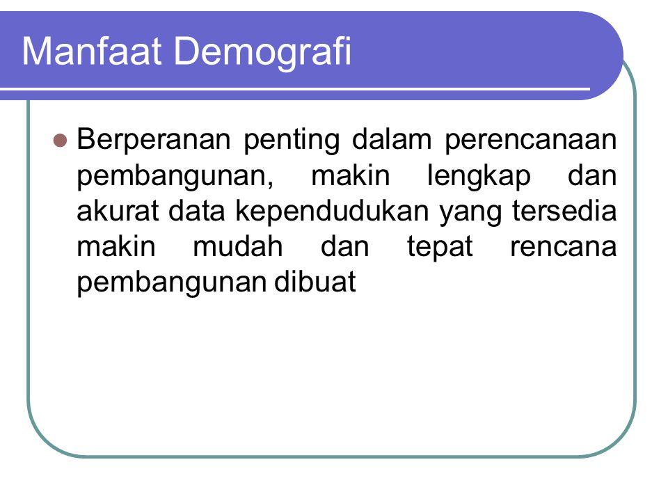 Manfaat Demografi