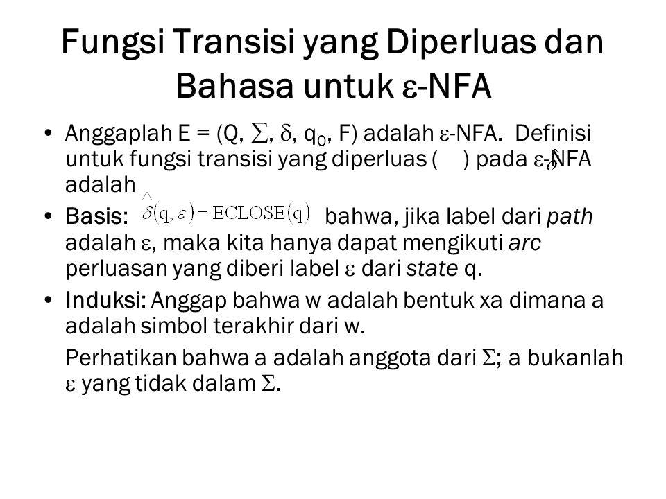 Fungsi Transisi yang Diperluas dan Bahasa untuk -NFA