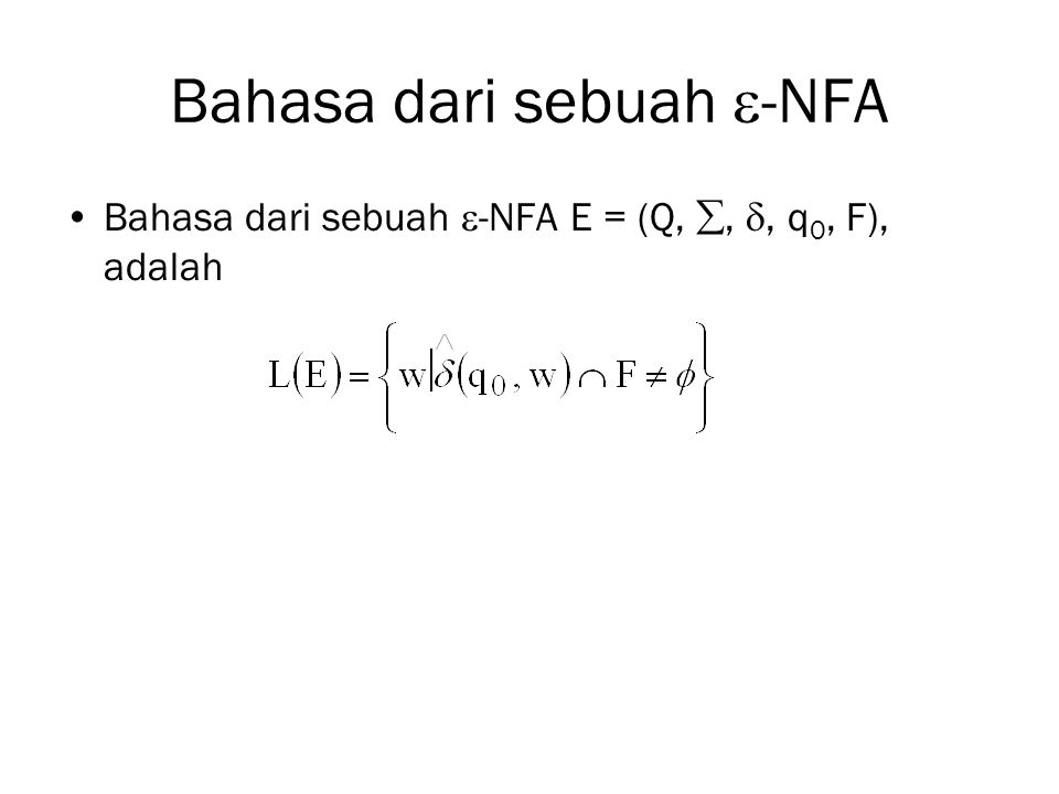 Bahasa dari sebuah -NFA