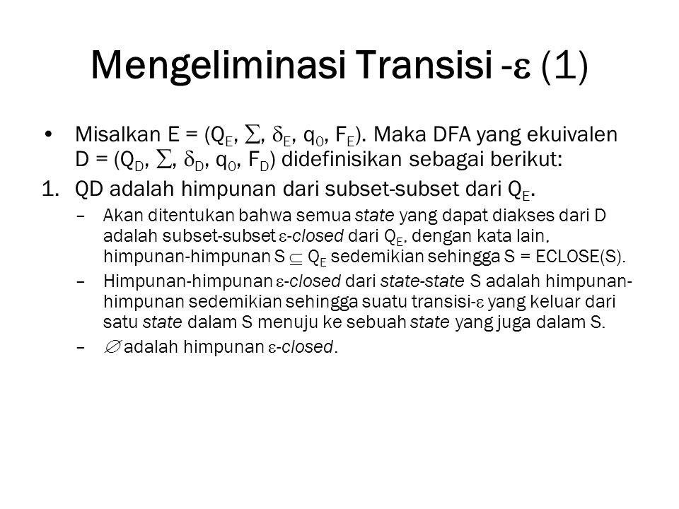 Mengeliminasi Transisi - (1)