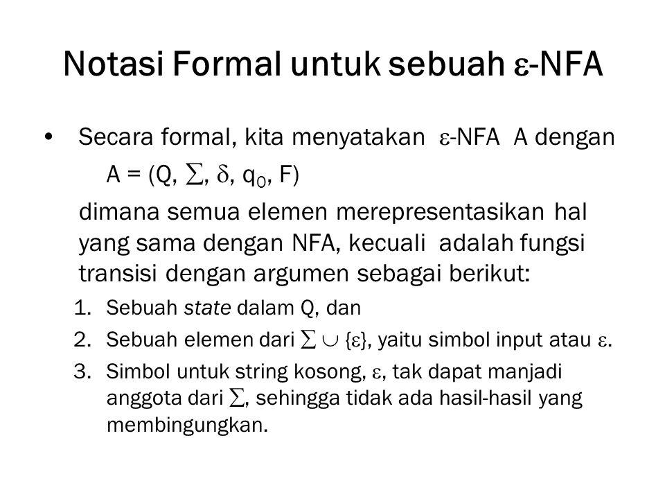 Notasi Formal untuk sebuah -NFA