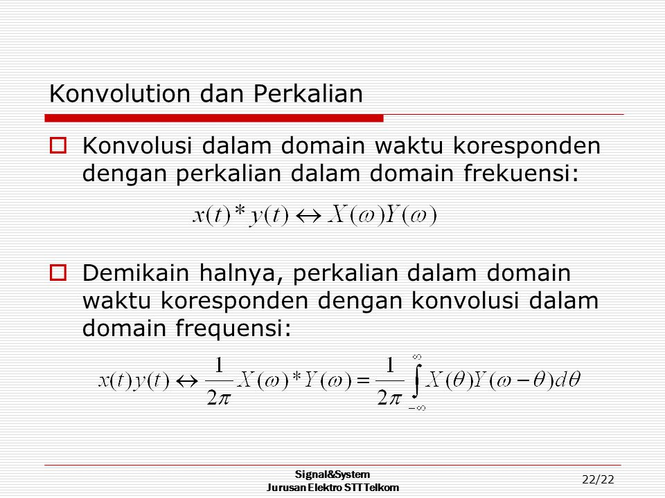 Konvolution dan Perkalian
