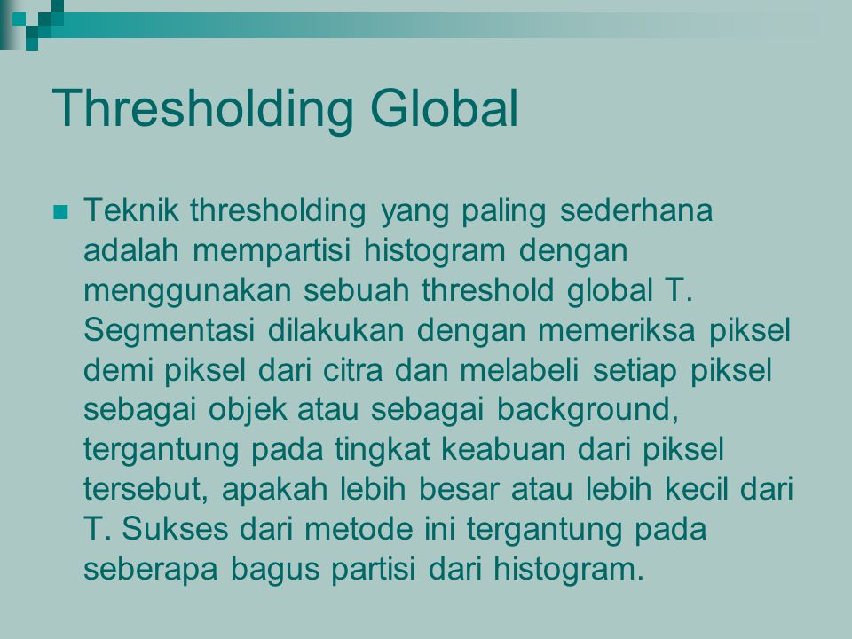 Thresholding Global