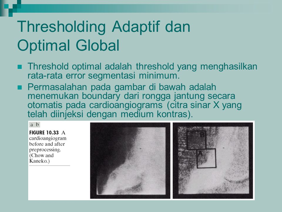 Thresholding Adaptif dan Optimal Global