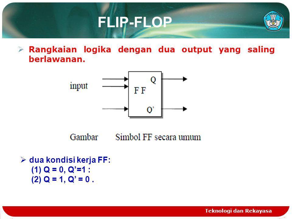 FLIP-FLOP Rangkaian logika dengan dua output yang saling berlawanan.