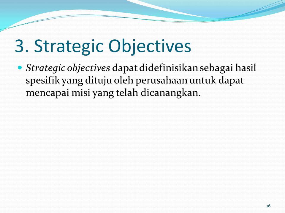3. Strategic Objectives