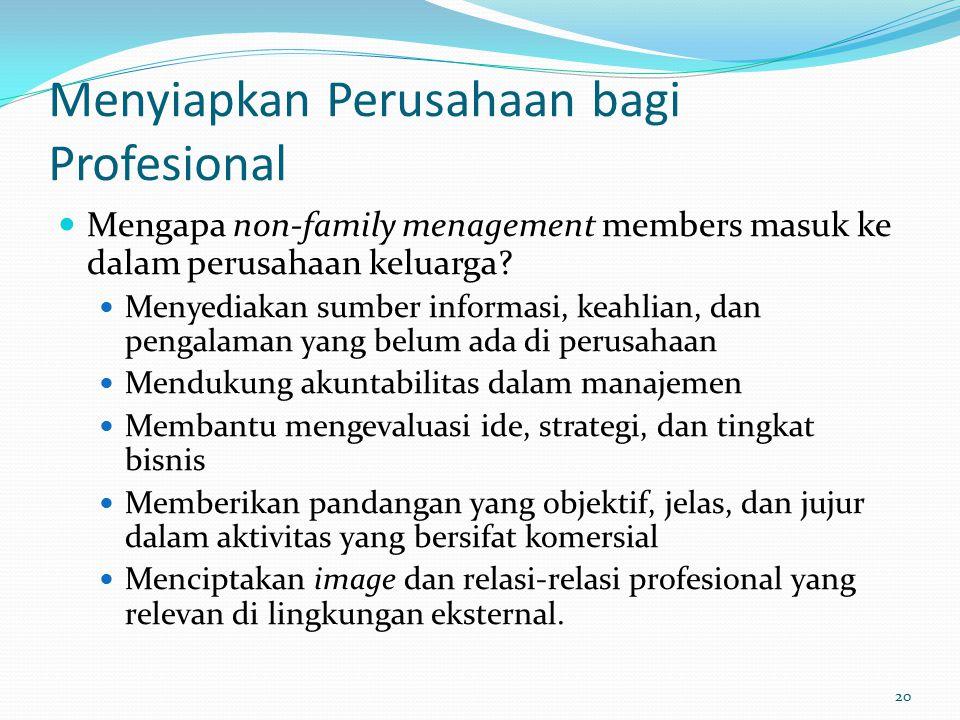 Menyiapkan Perusahaan bagi Profesional