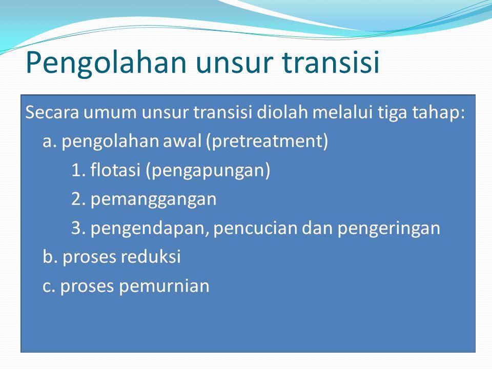 Pengolahan unsur transisi