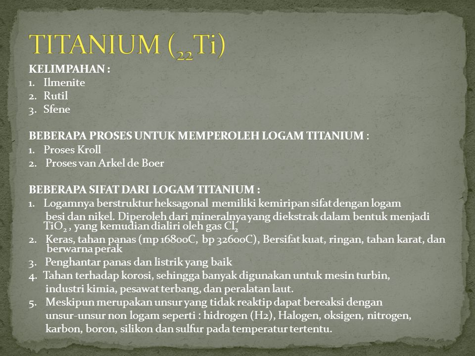 TITANIUM (22Ti)
