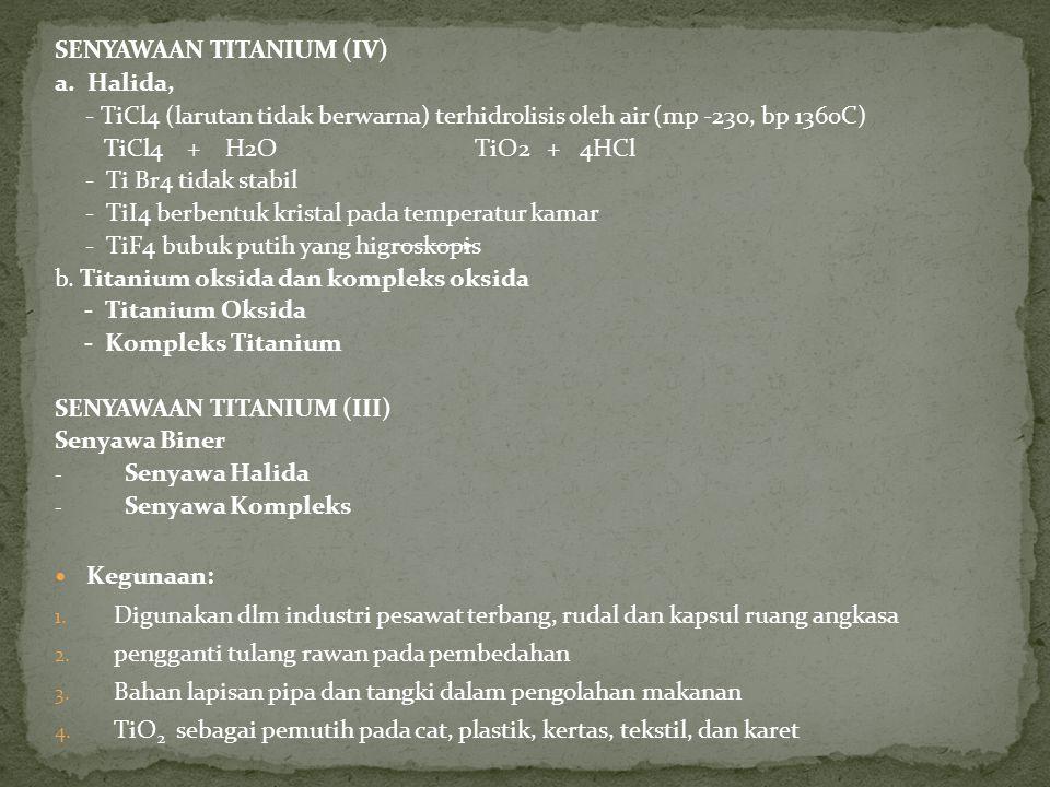 SENYAWAAN TITANIUM (IV)