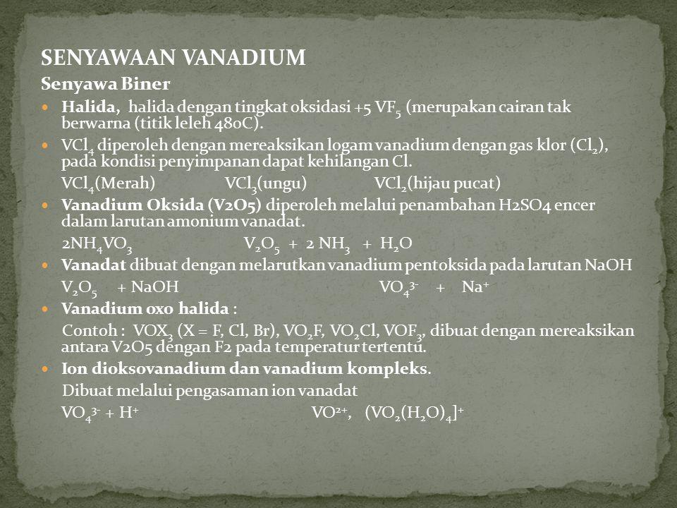 SENYAWAAN VANADIUM Senyawa Biner
