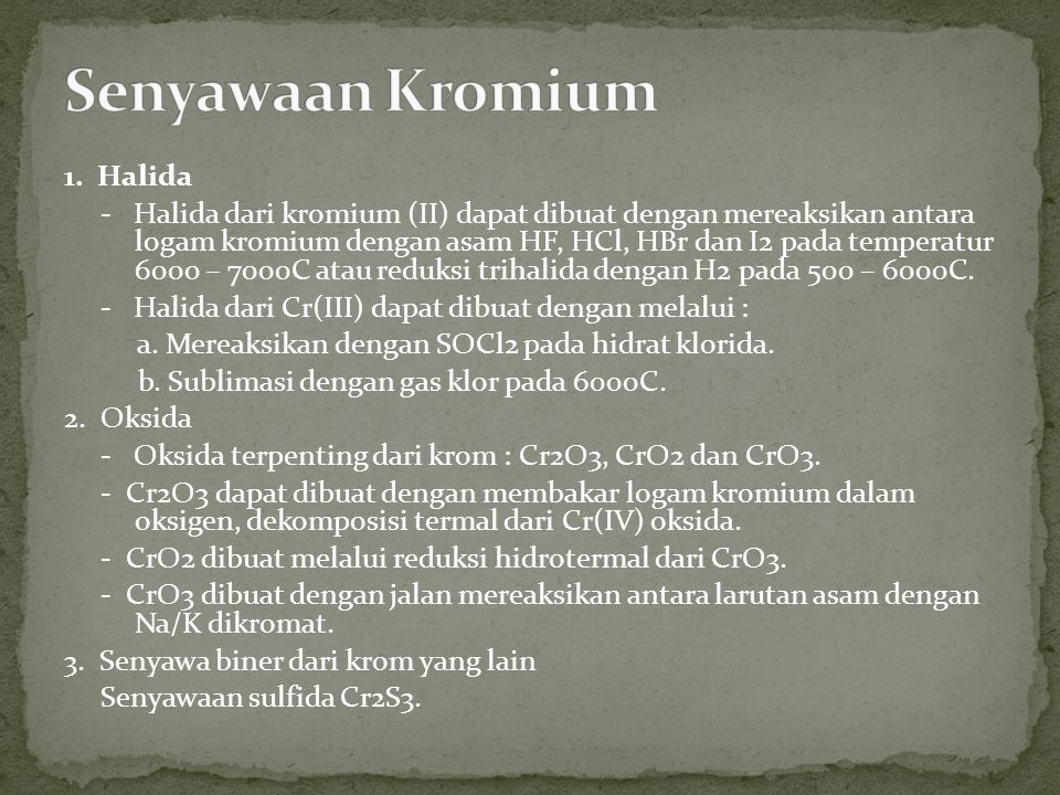 Senyawaan Kromium