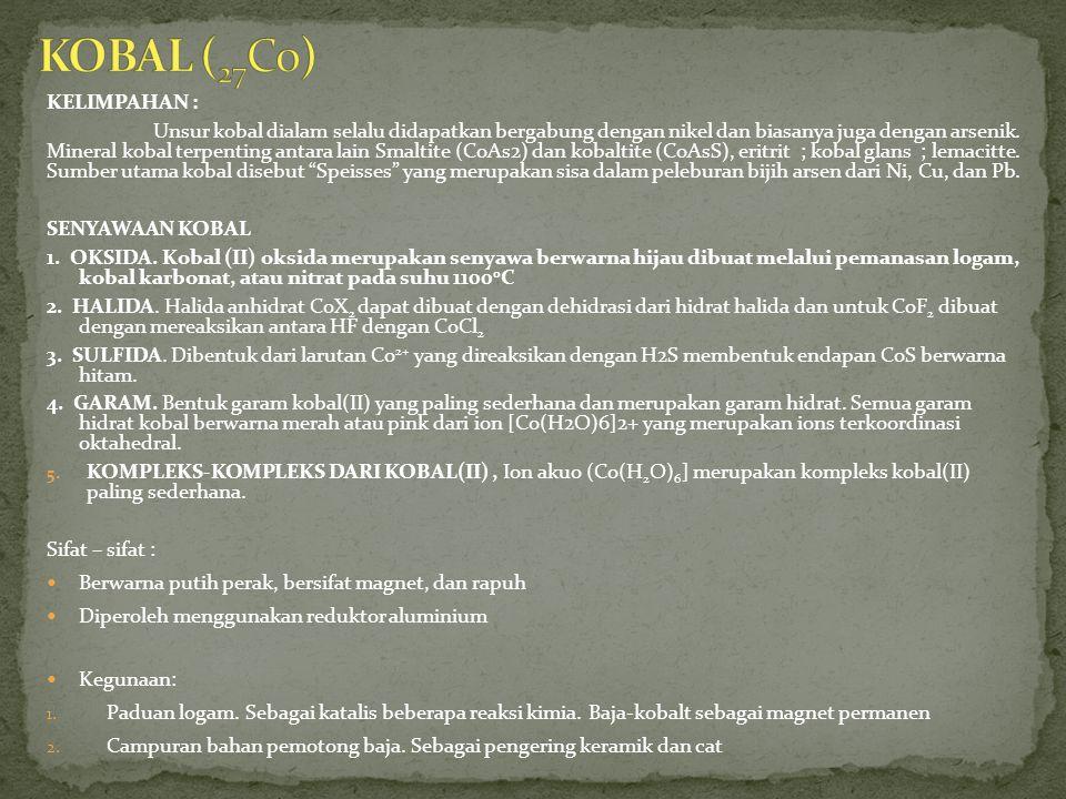 KOBAL (27Co) KELIMPAHAN :