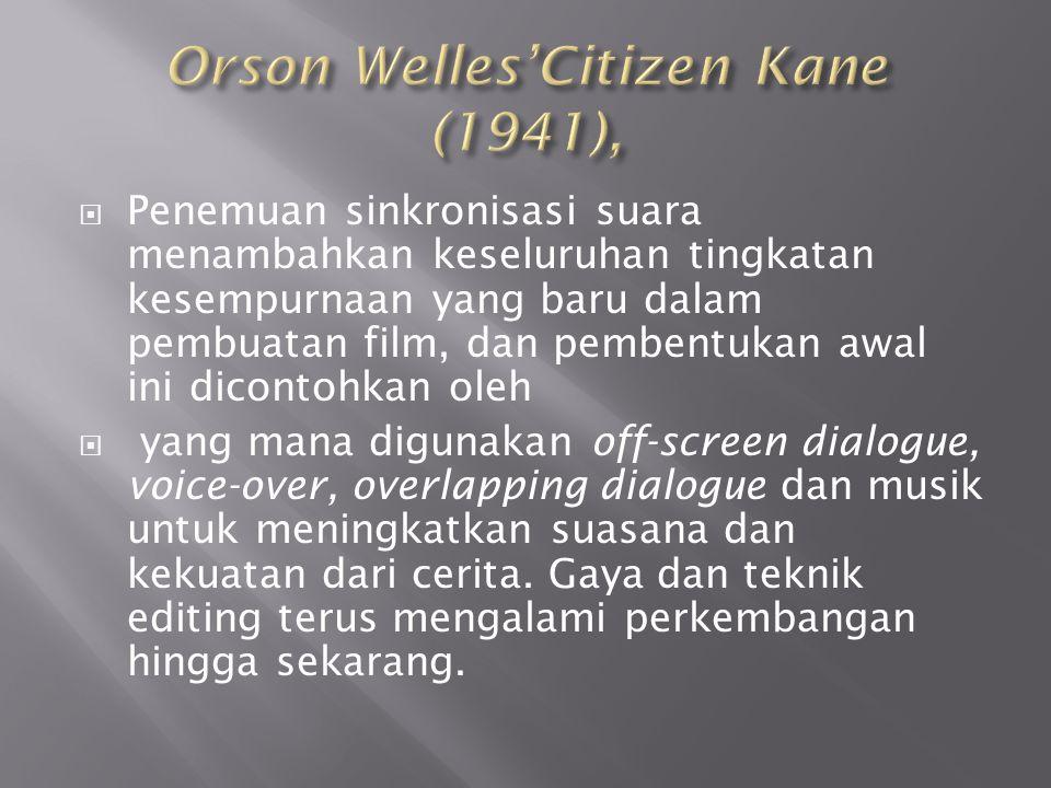 Orson Welles'Citizen Kane (1941),