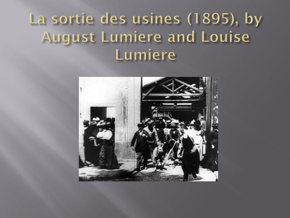 La sortie des usines (1895), by August Lumiere and Louise Lumiere