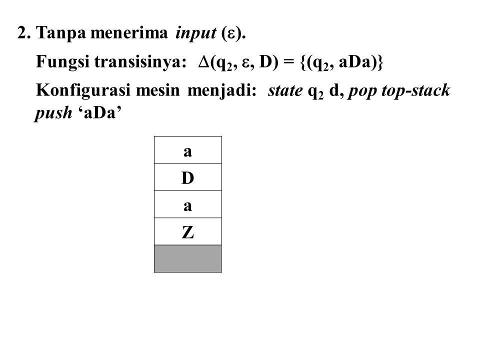 2. Tanpa menerima input ().