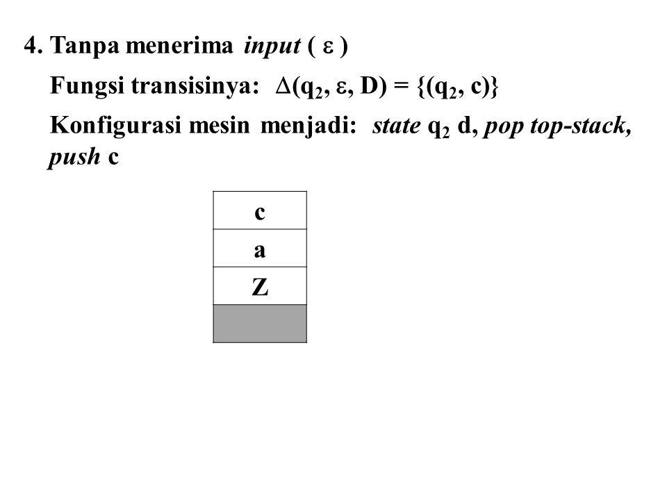 4. Tanpa menerima input (  )