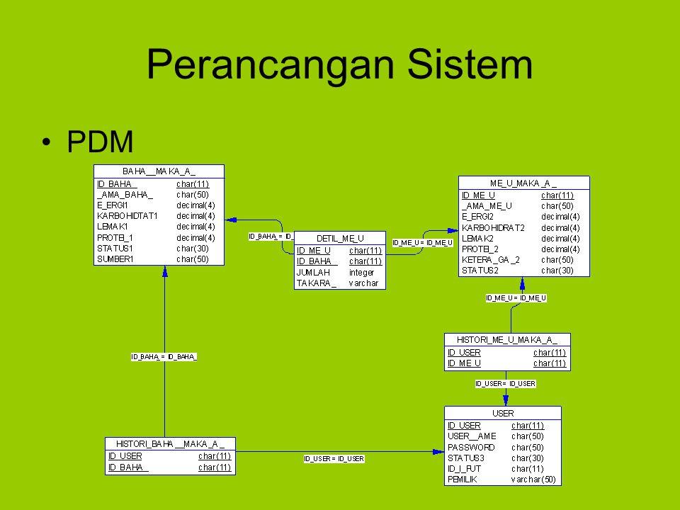 Perancangan Sistem PDM