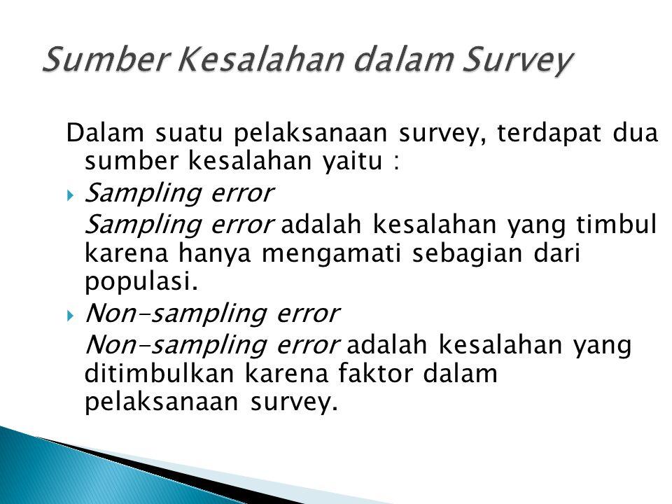 Sumber Kesalahan dalam Survey