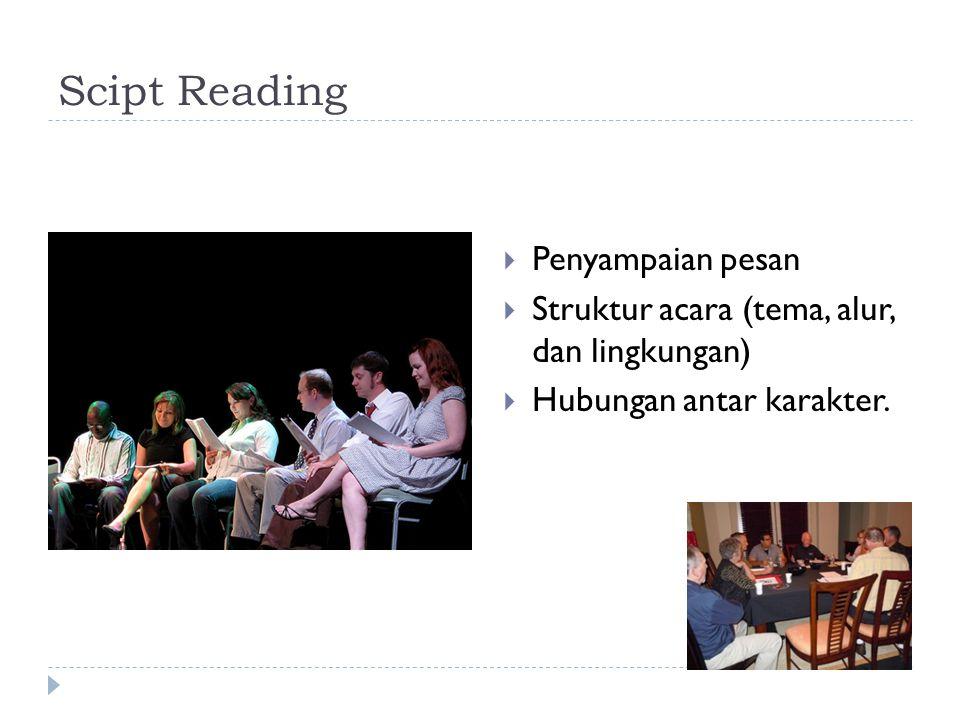 Scipt Reading Penyampaian pesan