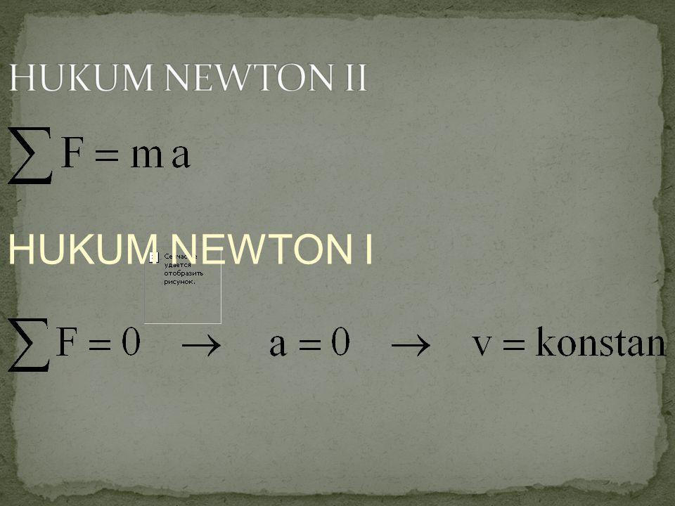 HUKUM NEWTON II HUKUM NEWTON I