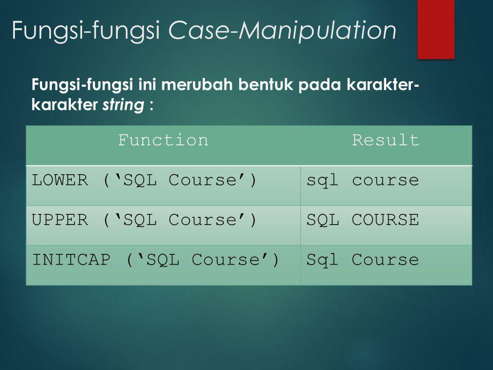 Fungsi-fungsi Case-Manipulation