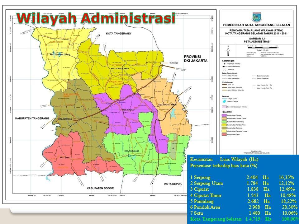 Wilayah Administrasi Kecamatan Luas Wilayah (Ha)