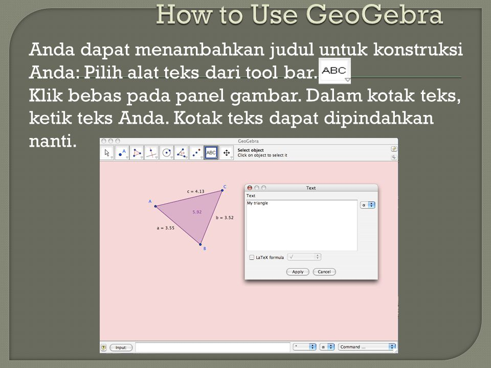 How to Use GeoGebra