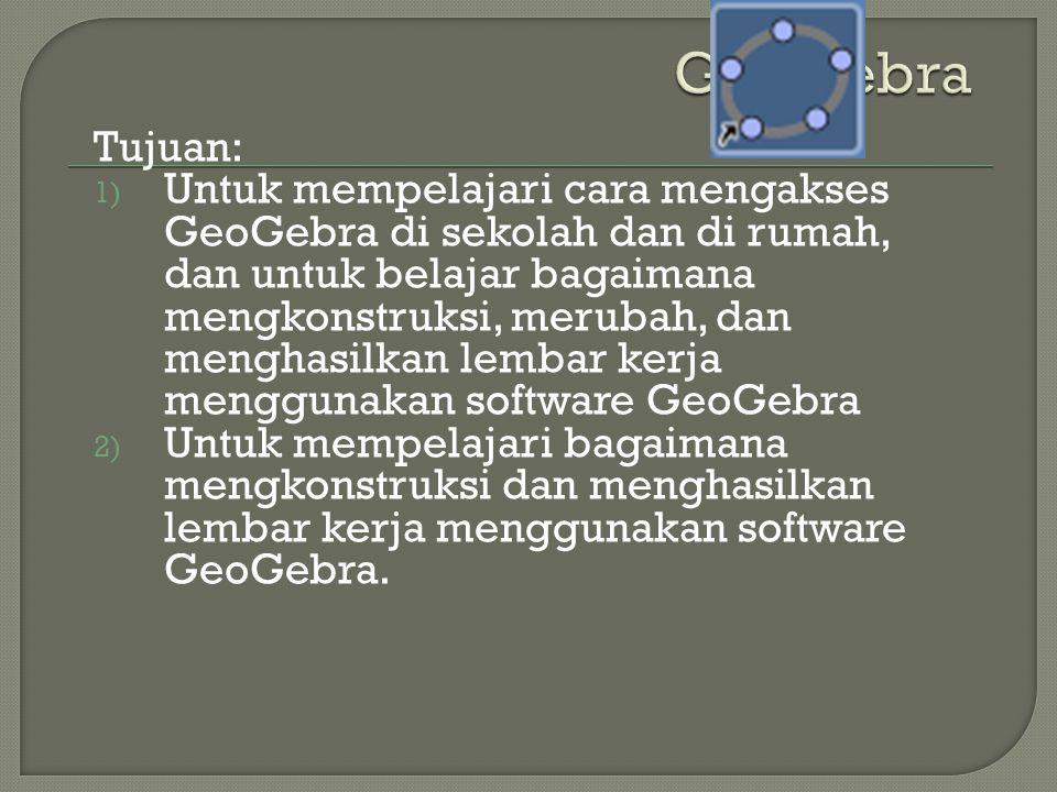 GeoGebra Tujuan:
