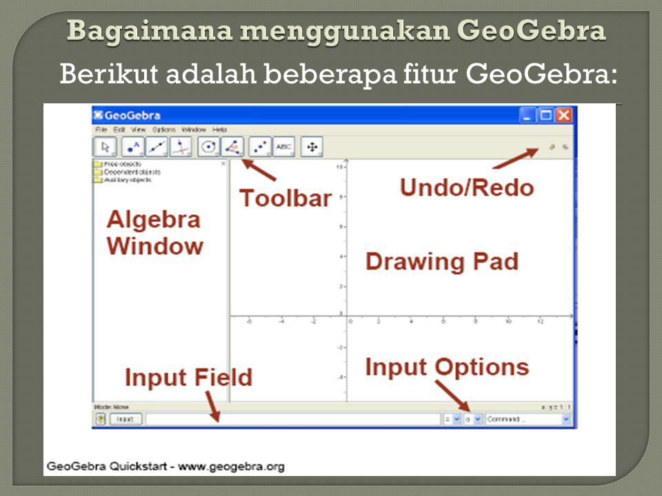 Bagaimana menggunakan GeoGebra