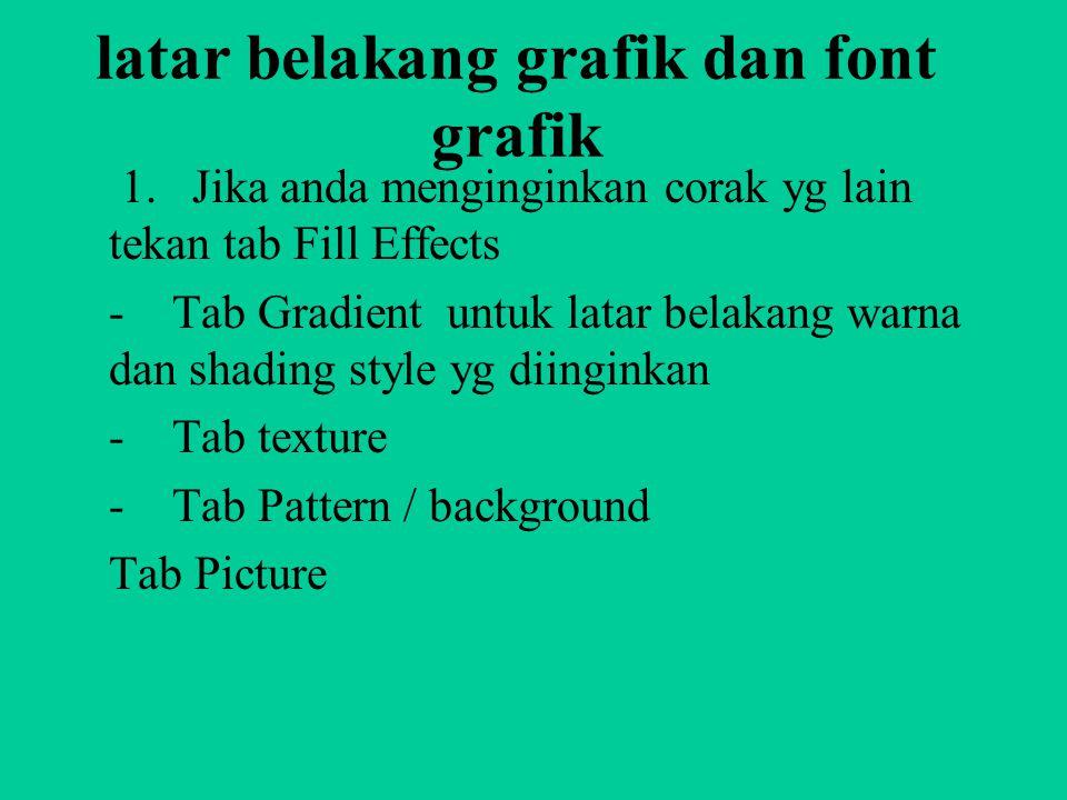 latar belakang grafik dan font grafik