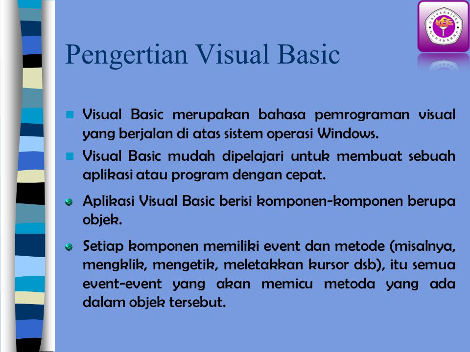 Pengertian Visual Basic