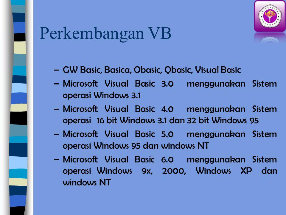 Perkembangan VB GW Basic, Basica, Obasic, Qbasic, Visual Basic
