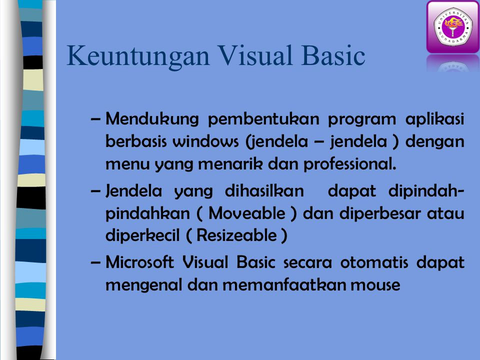 Keuntungan Visual Basic
