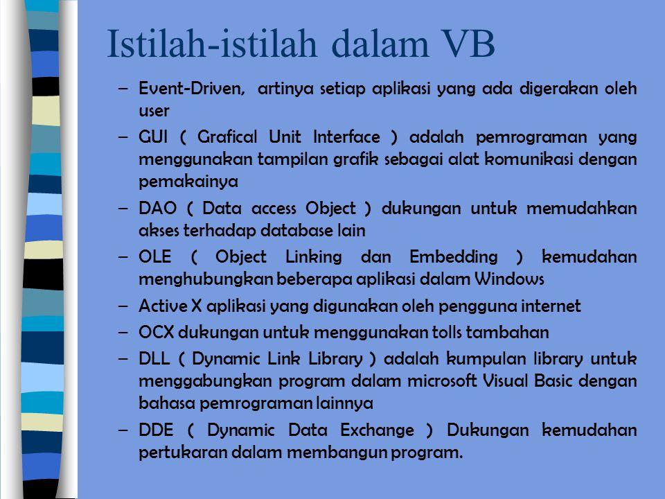 Istilah-istilah dalam VB
