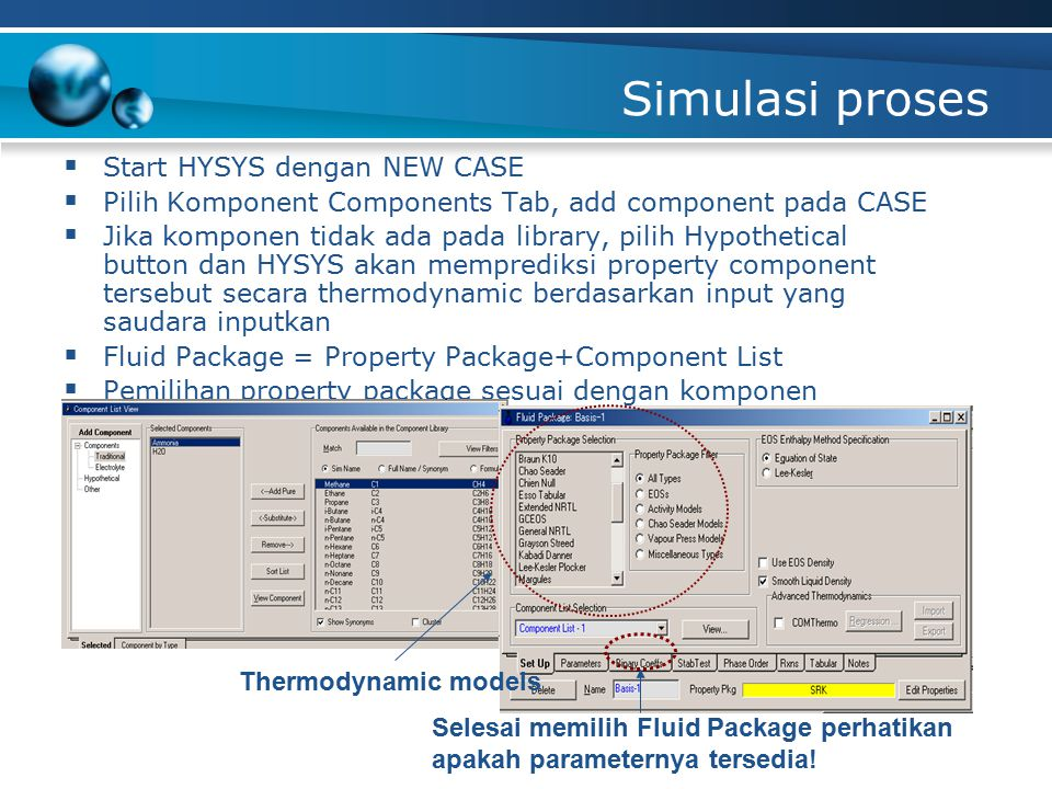 Simulasi proses Start HYSYS dengan NEW CASE