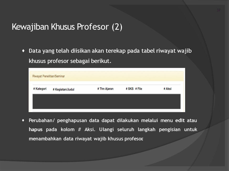 Kewajiban Khusus Profesor (2)