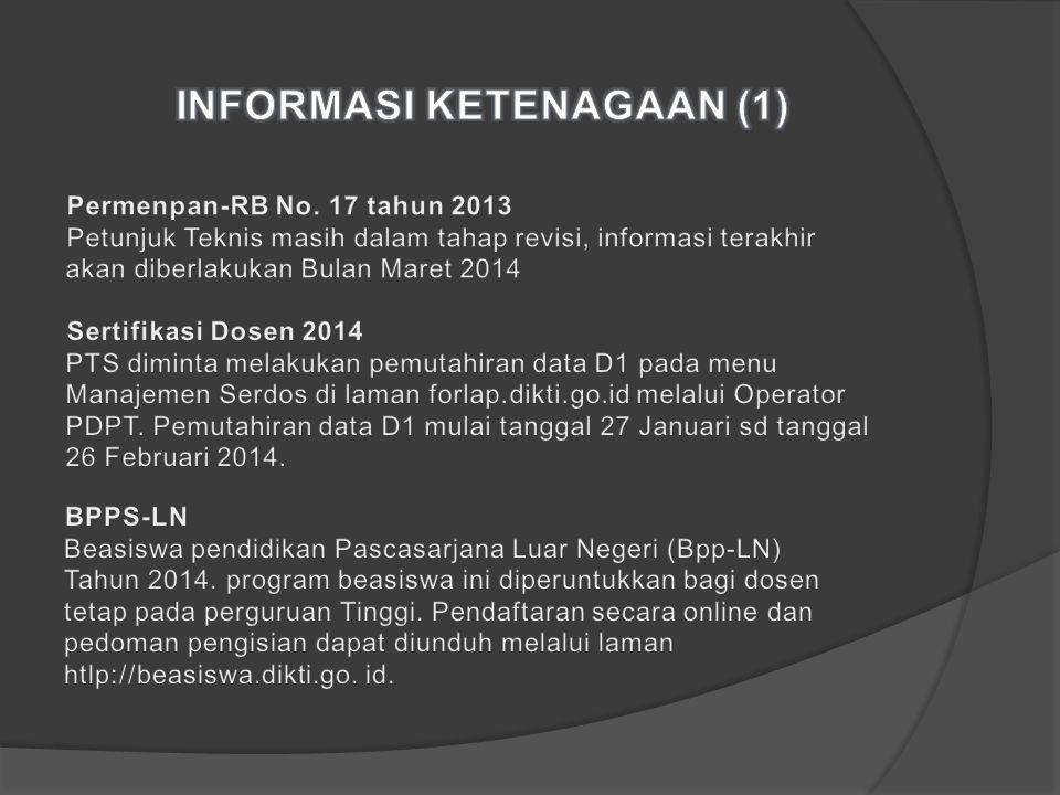 INFORMASI KETENAGAAN (1)
