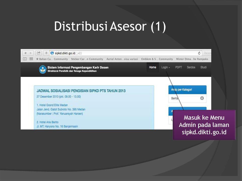 Masuk ke Menu Admin pada laman sipkd.dikti.go.id