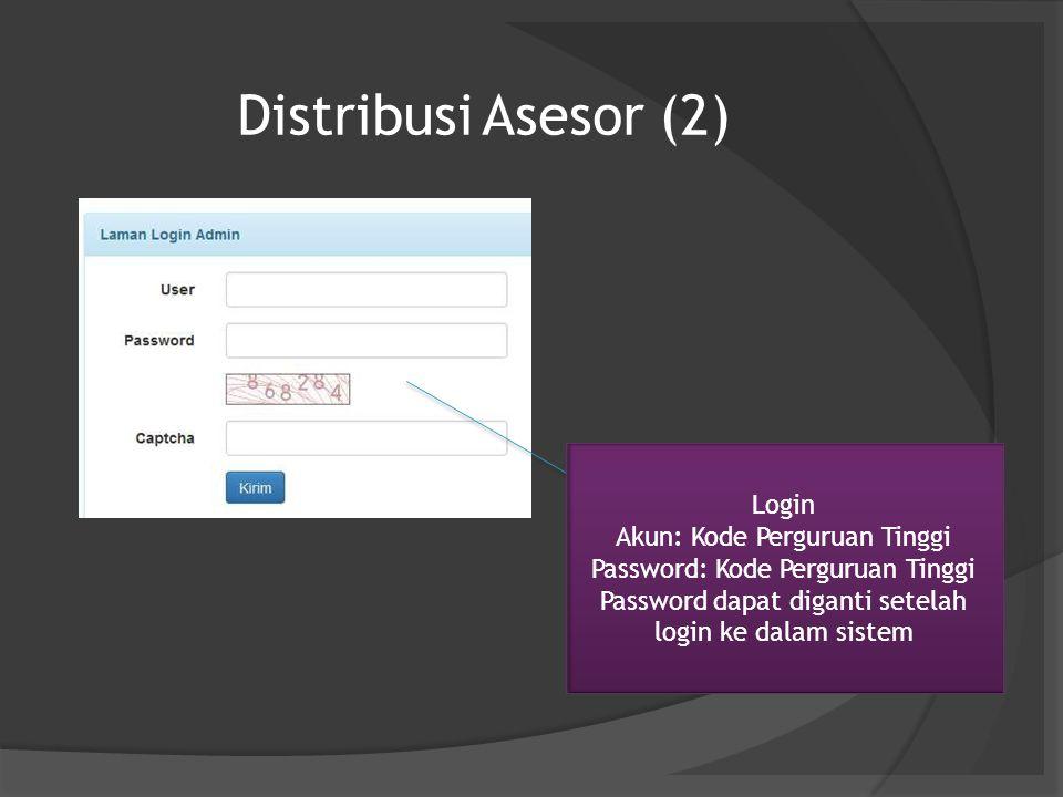 Distribusi Asesor (2) Login