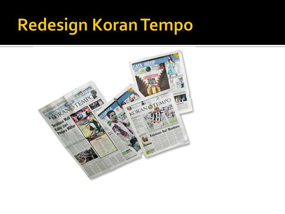 Redesign Koran Tempo