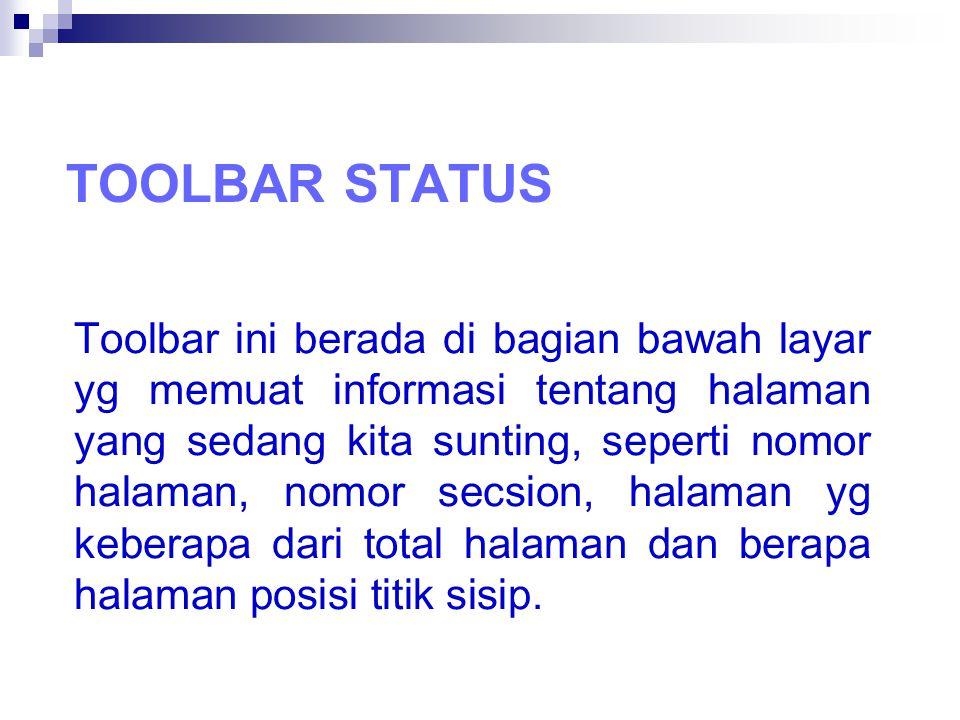 Toolbar status