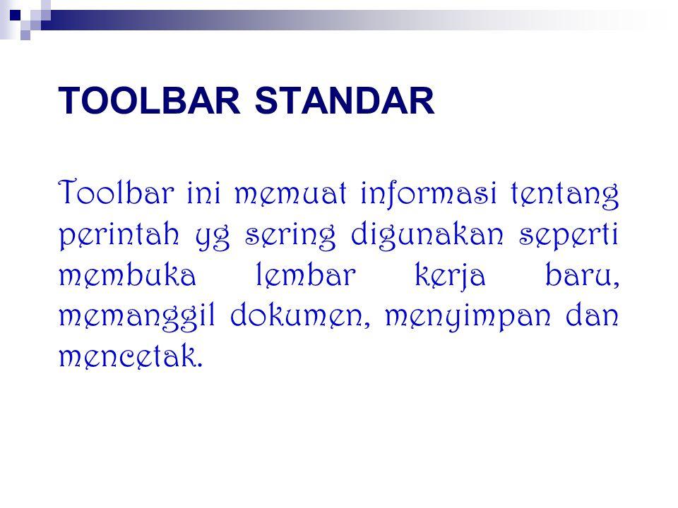 Toolbar standar