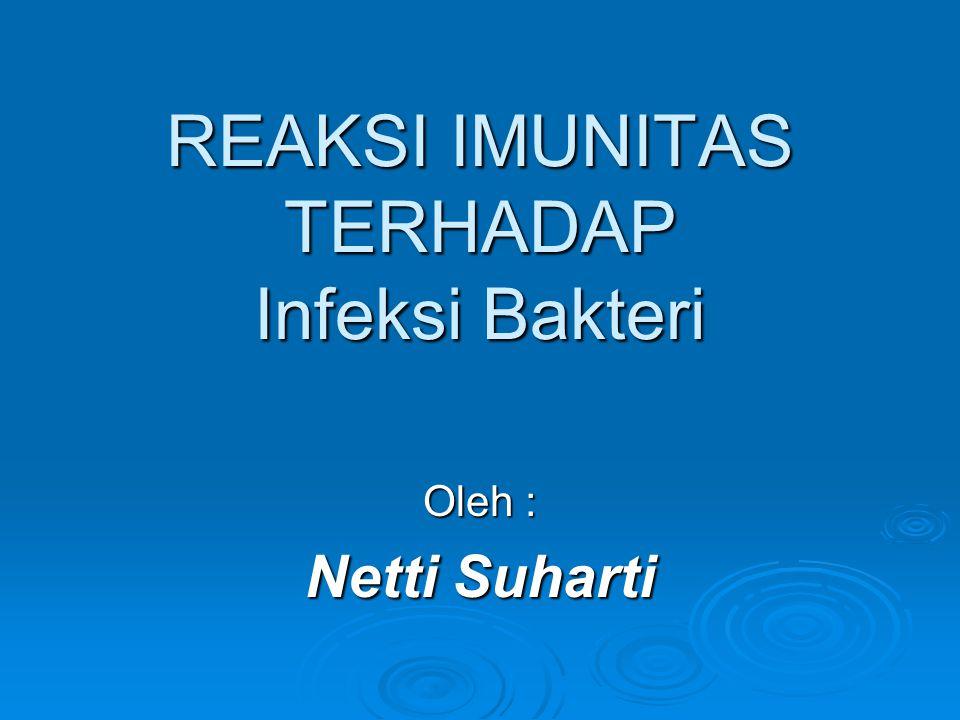 REAKSI IMUNITAS TERHADAP Infeksi Bakteri